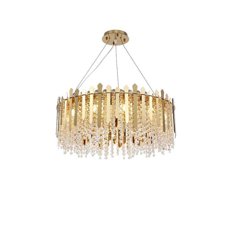 Modern Luxury Oro rotonda metallo lampadario di cristallo creativo decorazione del salone della casa lampada a sospensione PA0618 Luce