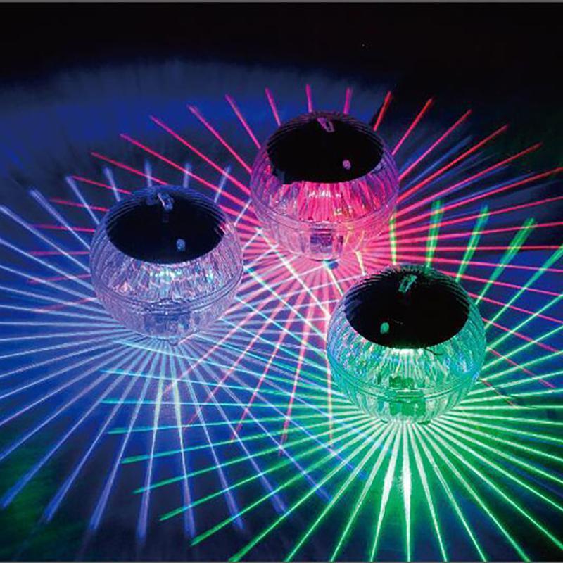 تعمل بالطاقة الشمسية العائمة بركة ضوء حمام سباحة تغيير لون LED مصباح ديسكو ضوء بركة سباحة للماء العائم SECU