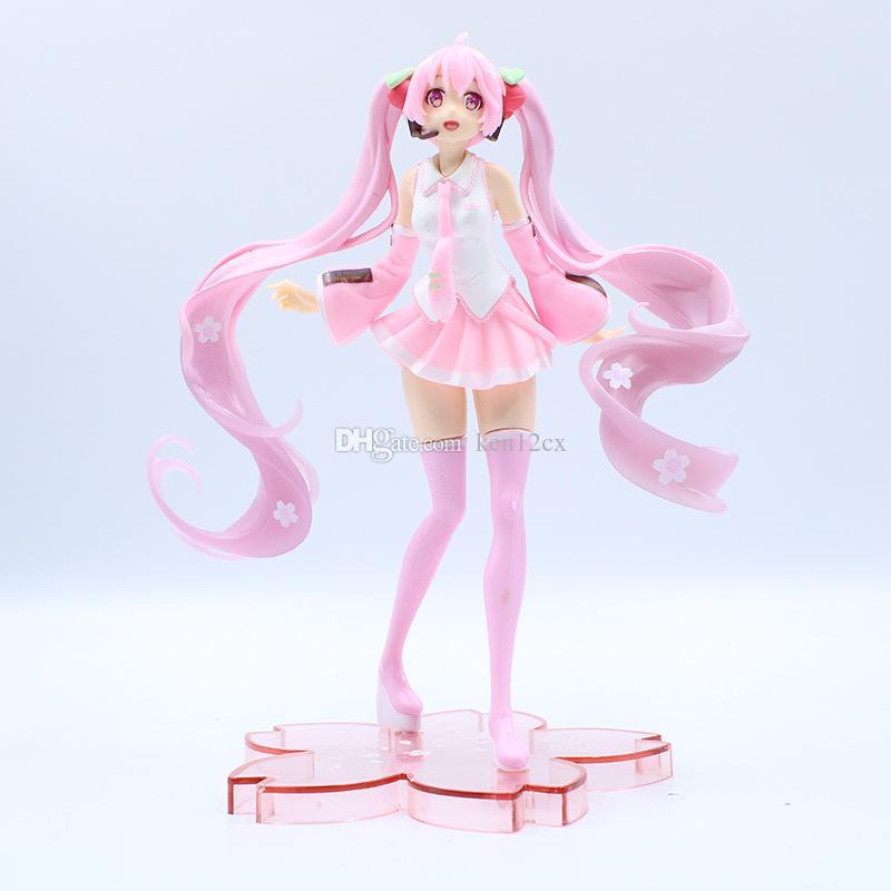 New Anime 19CM Vocaloid Sakura Hatsune Miku PVC Action Figure Toy Doll Kids Gift