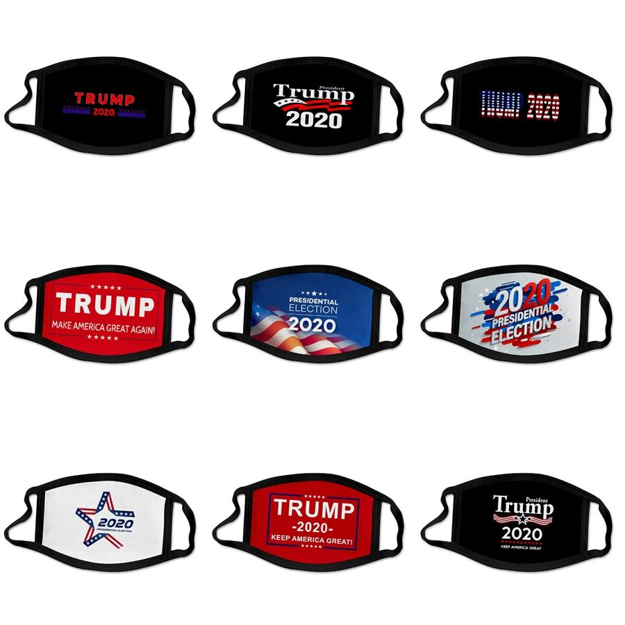 100% Cotton Printed Intercalable Filter Piece Pm2.5 Designer Trump Face Mask Three-Dimensional Washable Cotton ered Face Mas #633