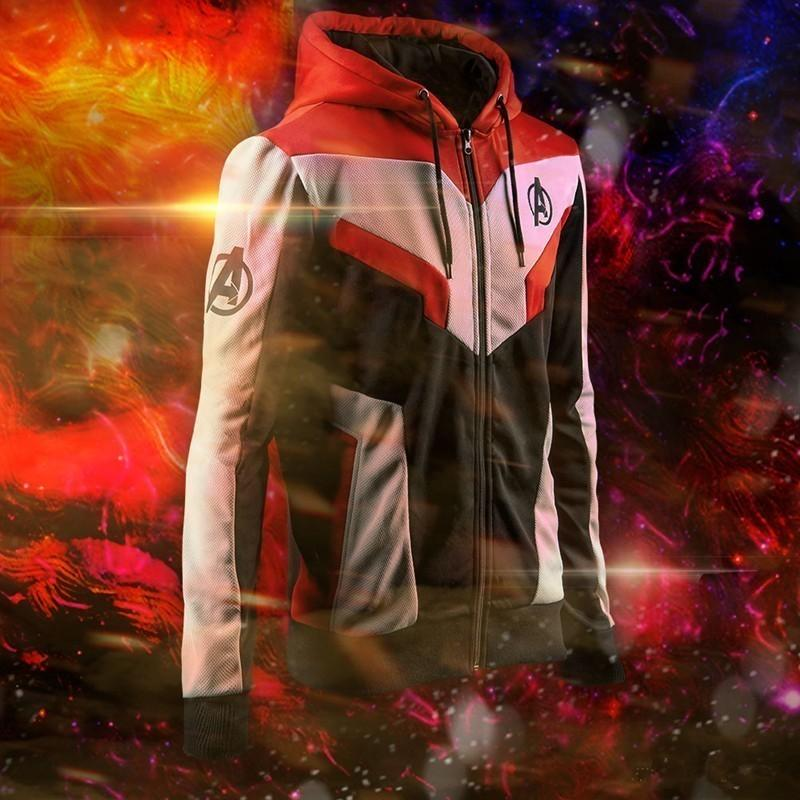 Marvel The Avengers 4 Final Juego Quantum Realm Spiderman Cosplay Sudaderas con capucha Unisex Avengers Zipper End Juego Sudadera Chaqueta SH190701