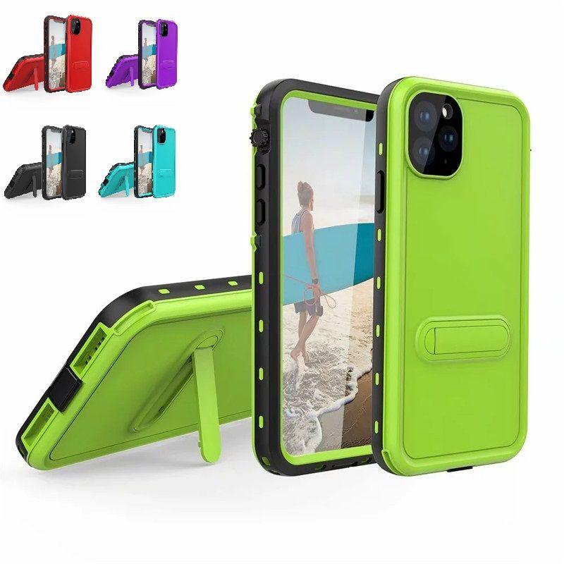 Custodie telefoniche impermeabili per iPhone 12 Pro Max Mini 360 Full Protective RedPepper Dot Pouch Antiurto Antiuso Busteo Staffa posteriore Cover posteriore