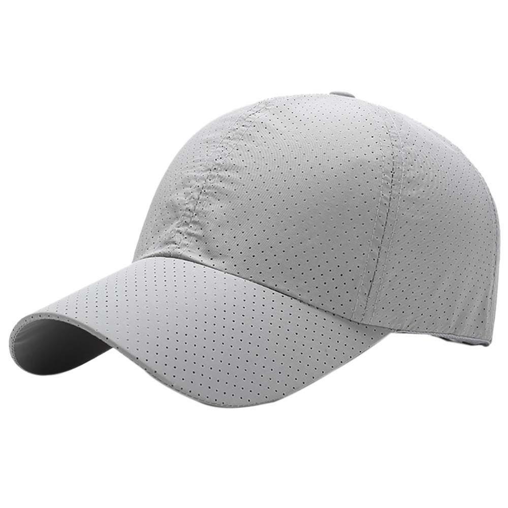 Baseball Cap Estate Uomo Donna sottile della maglia Quick Dry Cappello per il sole Golf Tennis corsa escursione del campeggio Pesca Spiaggia sportivo Cappelli