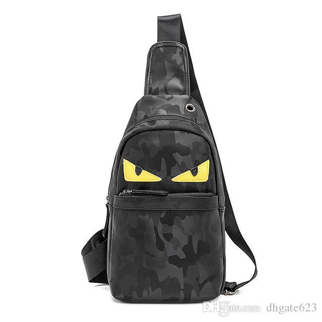 2019 Nuova capacità di cuoio grande sacchetto del petto piccolo sacchetto della borsa del mostro del mostro del portafoglio del portafoglio borse a tracolla del regalo della borsa di progettazione PU DFAPS