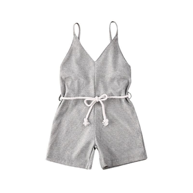 Pudcoco Bebek Kız bebekler Bling Romper Günlük Kolsuz Tek parça Giyim 2020 Yeni Çocuk Tulum Yaz Kıyafet Sunsuit