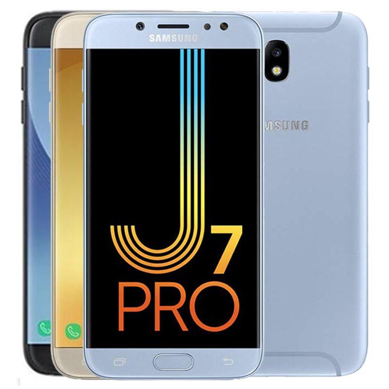 Original Samsung Galaxy J7 Pro 2017 Refurbished J730F 5.5 inch Octa Core 3GB RAM 32GB ROM 13MP 4G LTE Android Cell Phone Free DHL 1PC