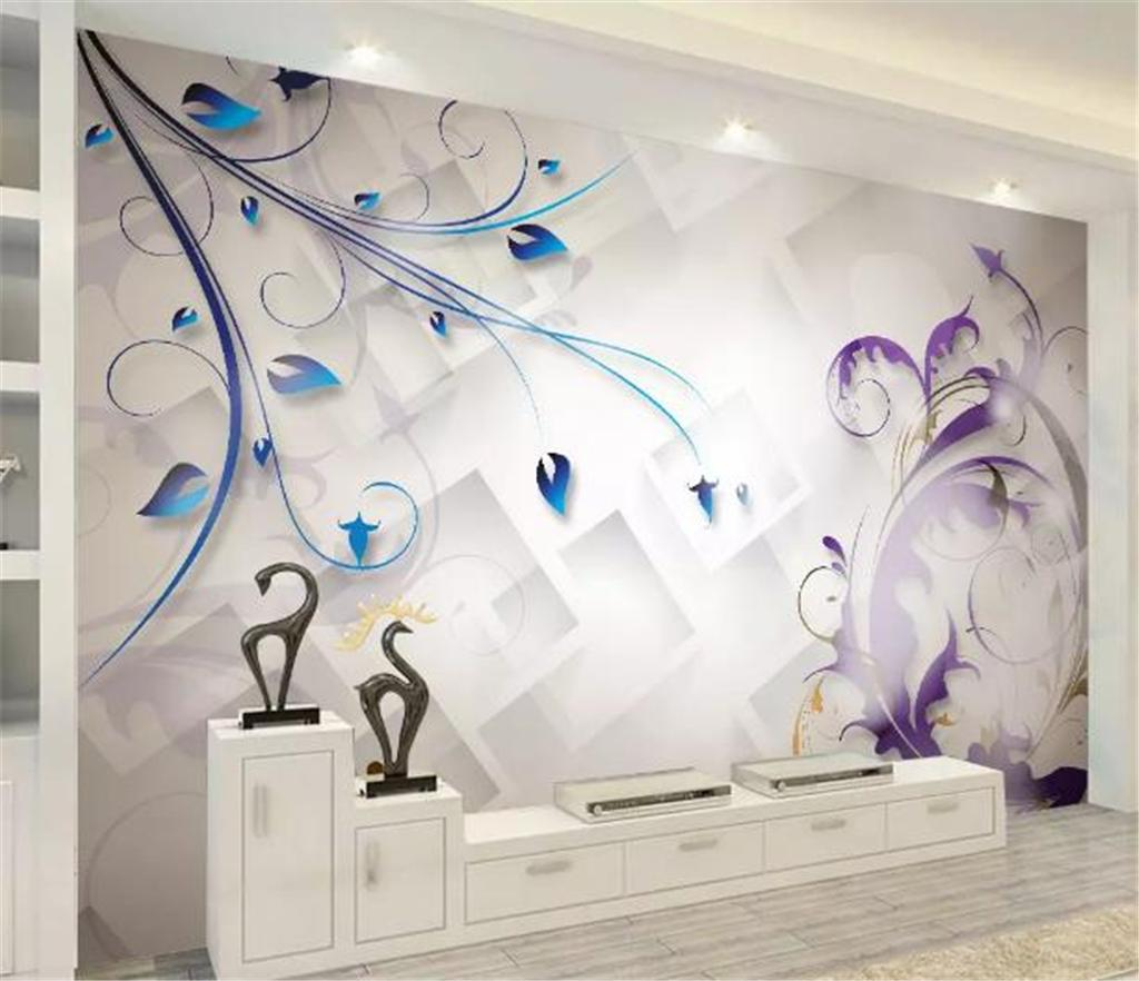 Custom Any Size 3d Wallpaper Modern Minimalistic Abstract Floral
