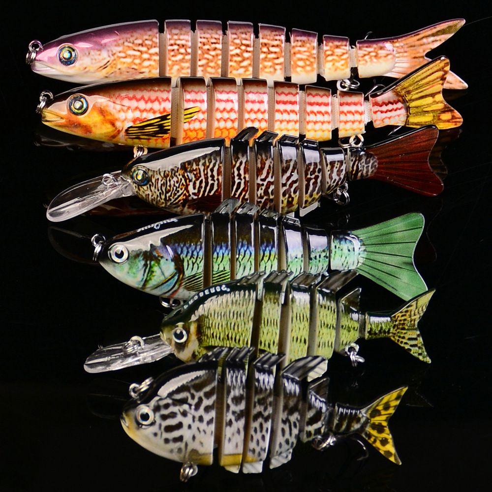 Многослойная смесь форели и мускуса Swimbaits 5 наборов стилей реалистичные мультисегменты Бык Шад Медленно тонущий приманка для рыб