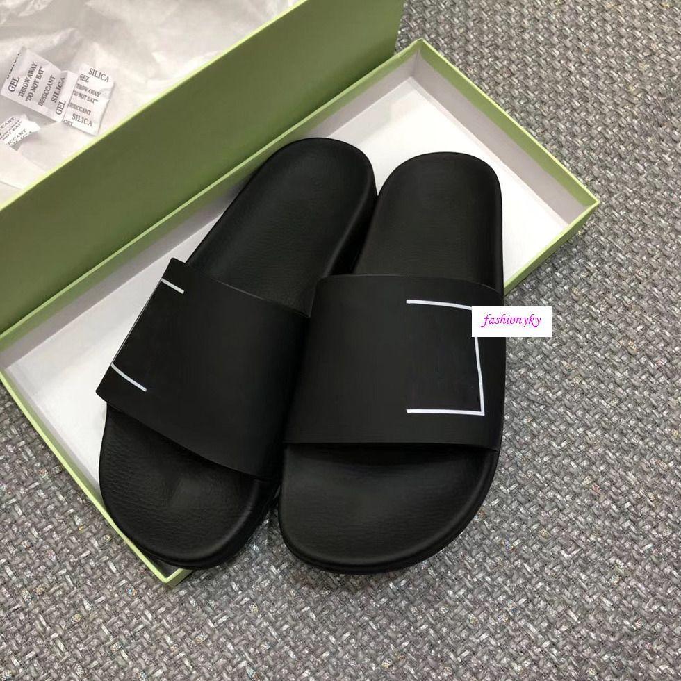 Estate Designer Off Scarpe casual spiaggia coperta pantofole amanti stampa bianchi pantofole