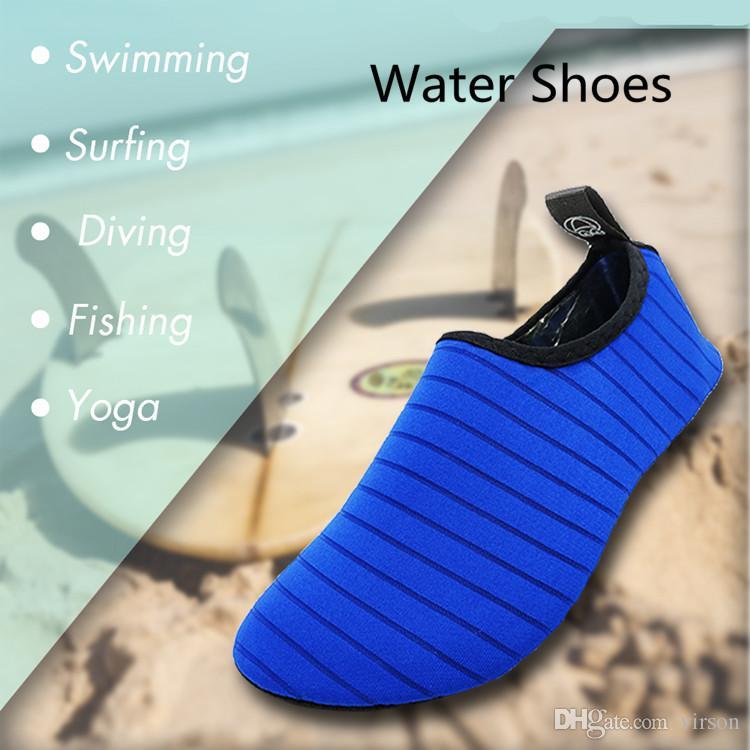 Água Shoes Mulheres Homens Quick Dry antiderrapante Sólidos Verão cor exterior Reef Beach Surfing Natação Sapatos Sneakers água Shoes