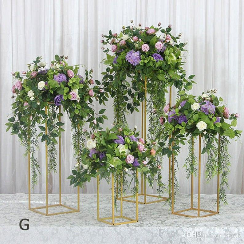Artificial Wedding Party Centerpiece Table Stage Backdrop Iron