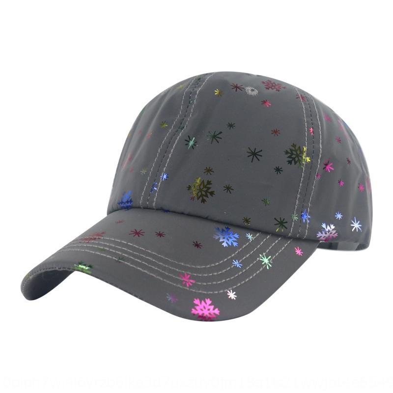 chapéu do floco de neve estrelado luminosa de beisebol dos homens boné de beisebol Chapéu de Sol sol e dança de rua cap luminosa guarda-sol das mulheres