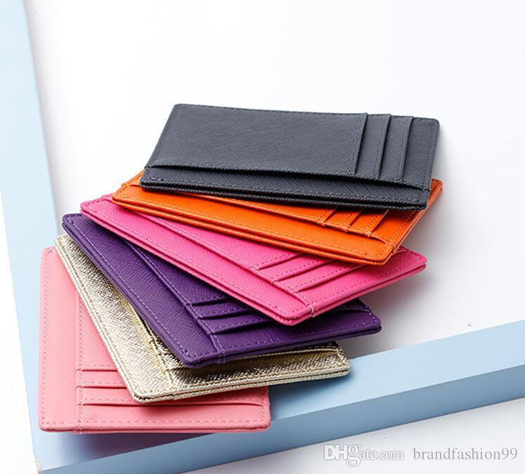 2020 классический леди мода горячая дизайн мужской женский кожаный кредитной карты держатели с коробкой короткие бумажник держателей