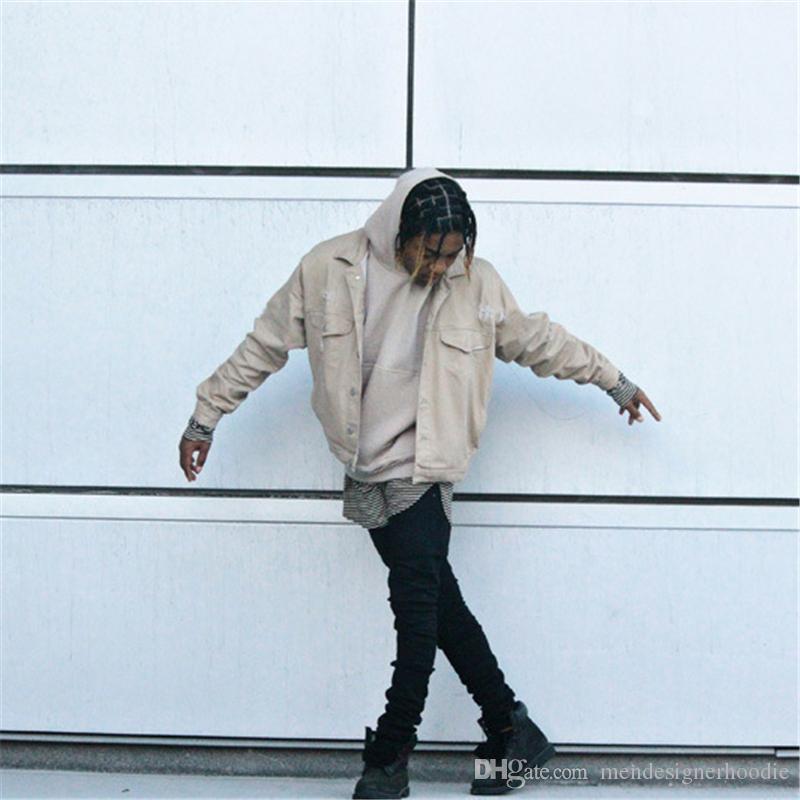 Primavera Mens Black Jeans High Street Estilo Casual Masculino Calças Lápis Sólidos Moda Hiphop Zipper Fly Boys Calças
