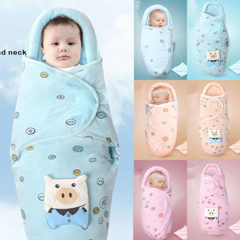 2019 Newborn Baby Sleeping Bag Soft Blanket Printed Sleep Wrap Cotton Bedding Swaddle Baby Girl Boy Sleepwear for 0-2Months