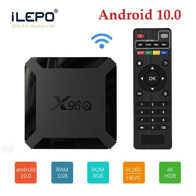 X96Q أندرويد 10.0 مربع التلفزيون الذكي 1G / 2GB RAM 8G / 16G ROM Media Player Set Top Machine