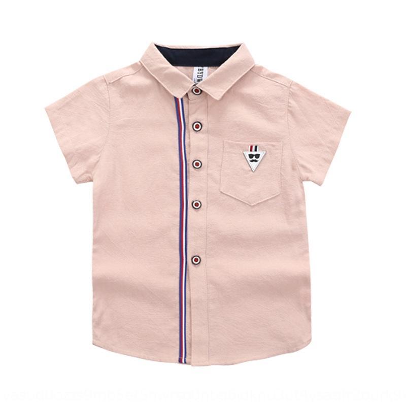 3ThJu Verão 2020 novos coreano tong estilo de bolso macio cor sólida das crianças das crianças chen shan Tong chen shan 0-3 anos velha camisa coreana st
