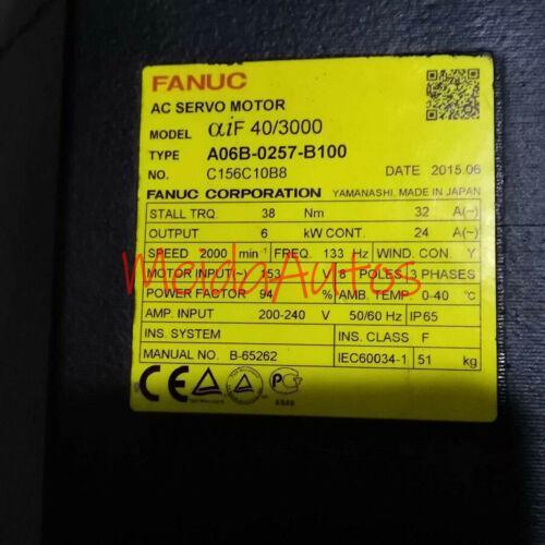 Novo na caixa Fanuc A06B-0257-B100 Servo Motor A06B0257B100 Um ano de garantia