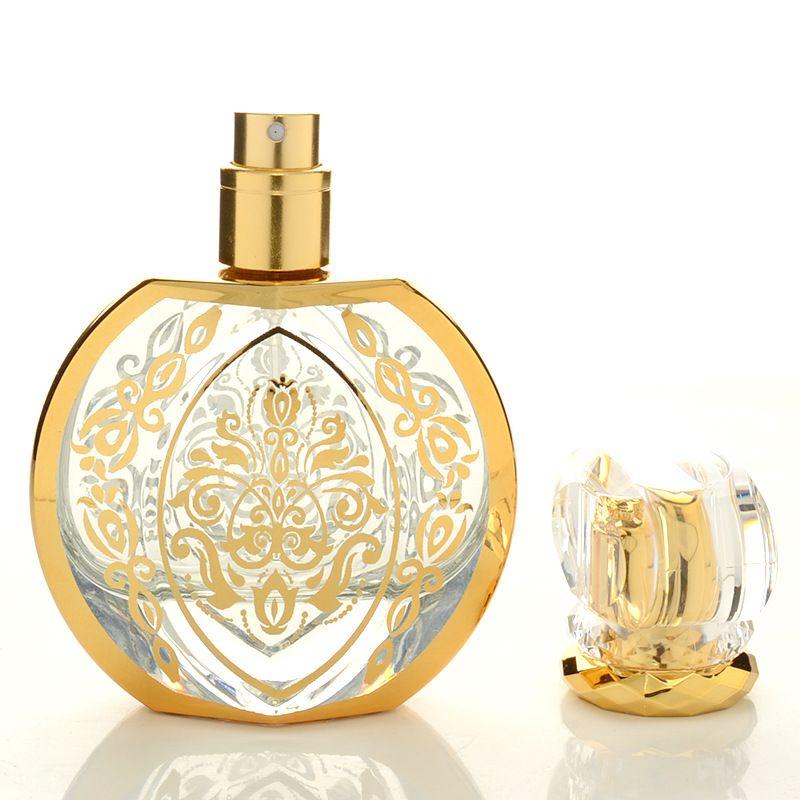 Botellas de embalaje profesional Novedades de la botella del aerosol del perfume 50ml de estampado en caliente de dispensación de cristal 10PCS botella vacía / LOT
