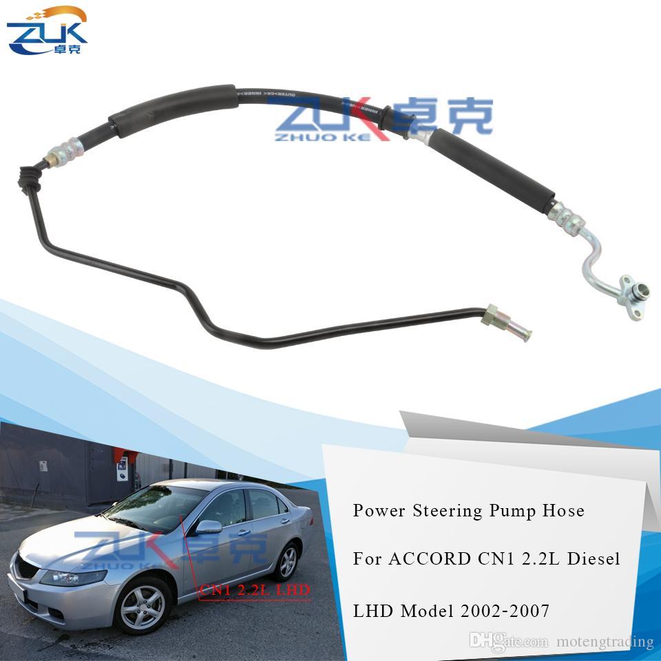 Tuyau d'alimentation d'alimentation Zuk pour Honda Accord VII MK7 CN1 CN2 CN2 2.2L I-CTDI DIESEL 2002-2007 Modèle de conduite à gauche 53713-SEF-G02
