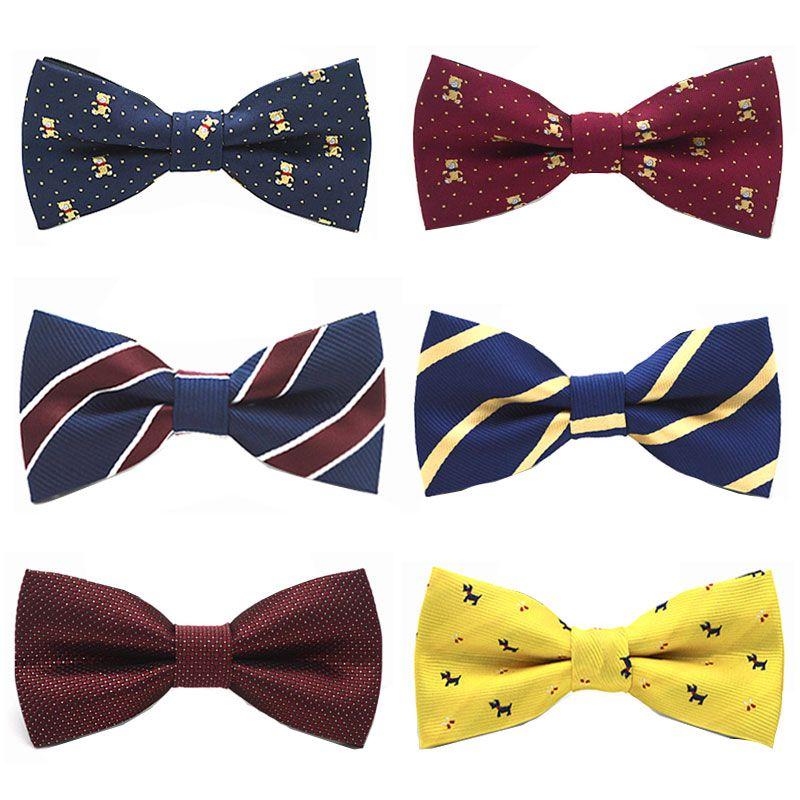 Boys Quality Bow Ties Boys Adjustable Bow Tie Kids Prom Dot Bow Tie Children SAL