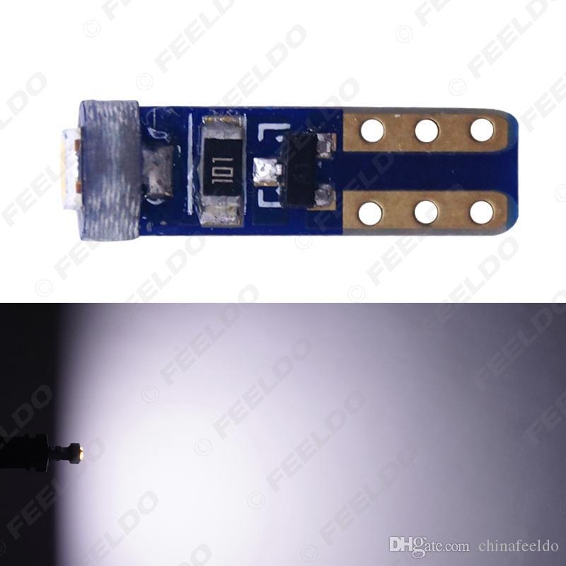 venta al por mayor blanco T5 7417 coche luz LED 3030 1 LED LED placa de matrícula luces de estacionamiento lámpara de luz lateral bombilla # 1782