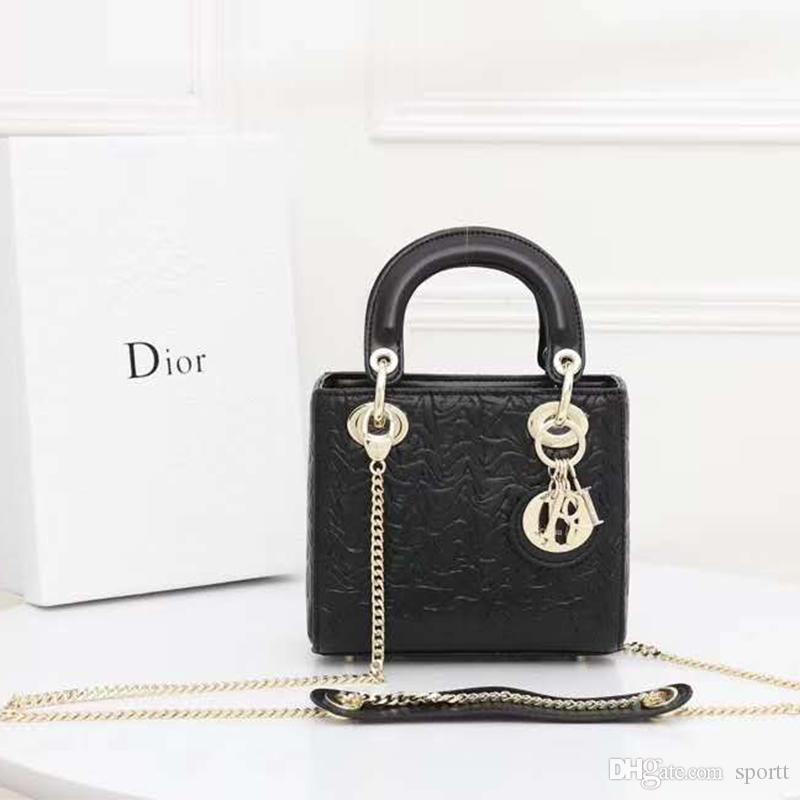 bag catena diretta di alta qualità della moda italiana in pelle alfabeto fabbrica di stampa superiore Borsa media secchiello borsa a tracolla