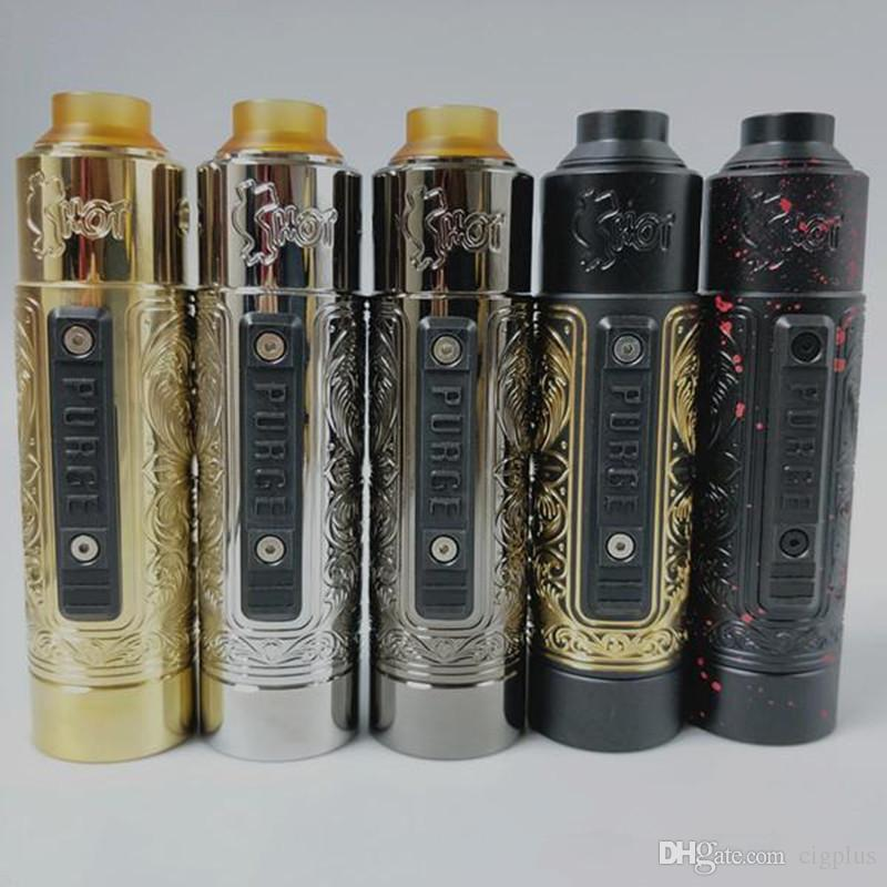 new purge slam piece clone kit with rda 20700 21700 engraving mech mod side firing button Button locking mechanism