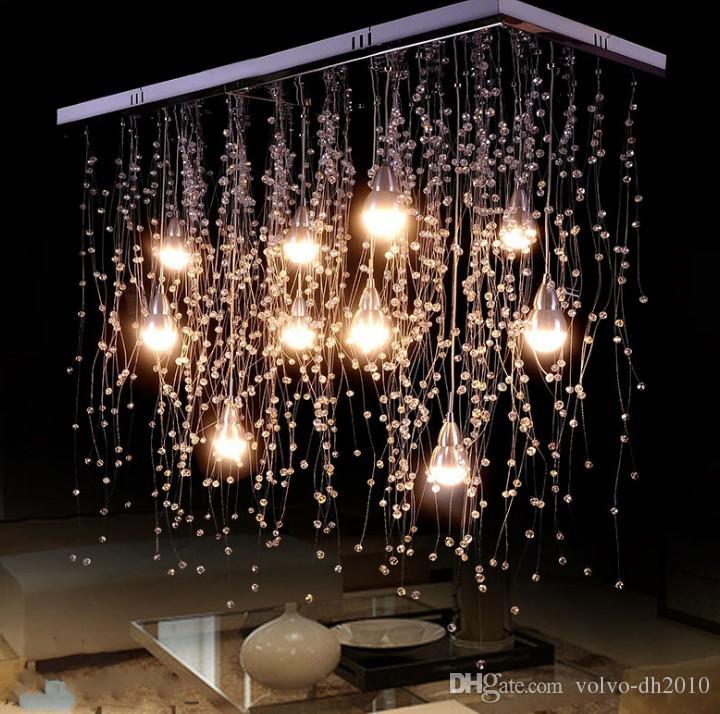 أضواء الكريستال سقف الإضاءة في الأماكن المغلقة LED الحديثة G4 بقيادة مطر الشهب الإضاءة لعيش / غرفة الطعام مصابيح الديكور المنزلي LLFA