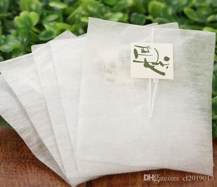 6000pcs bolsas de té de fibra de maíz en forma de pirámide filtro de sellado térmico bolsas de té PLA filtros de té biodegradados 5.8 * 7 cm