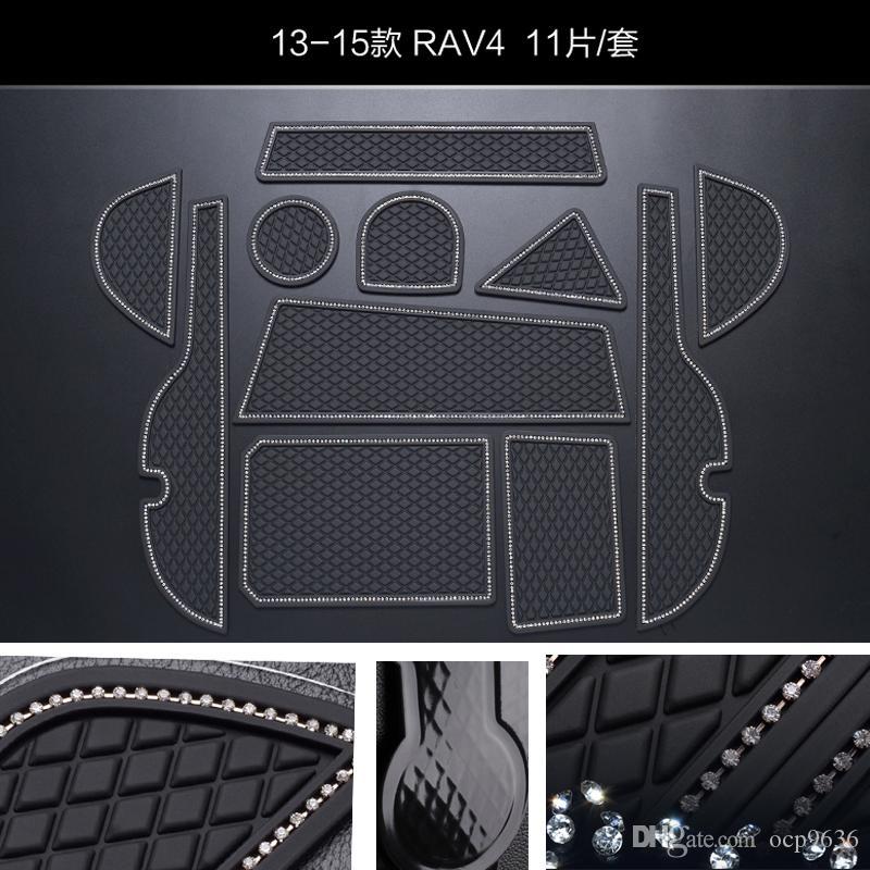 Для Toyota RAV4 13-15 Non-Slip коврики слот Gate коврик Интерьер ПВХ Резиновые двери Pad / Кубок Mat