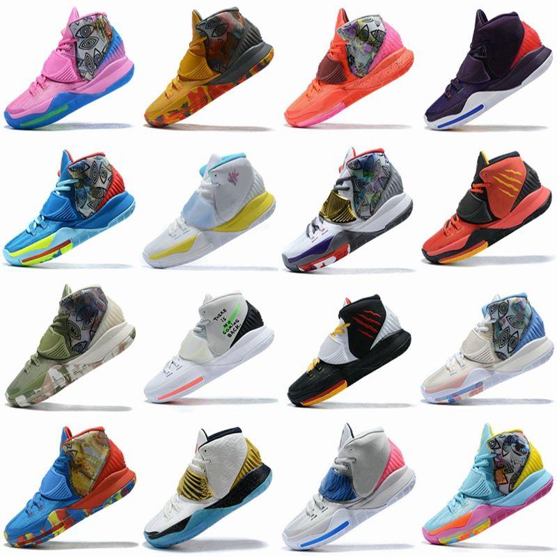 Conceitos x Kyrie 6 vasta cinza Bruce Lee Sapatos de basquete criados shanghai Beijing Guangzhou Berlim Tóquio Cura o mundo Mens 6s Sport Sneakers