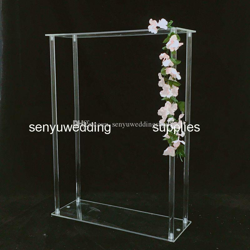 60cm/120cm tall )tall transparent decorative flower arrangement clear acrylic flower stand for wedding table centerpiece senyu0348