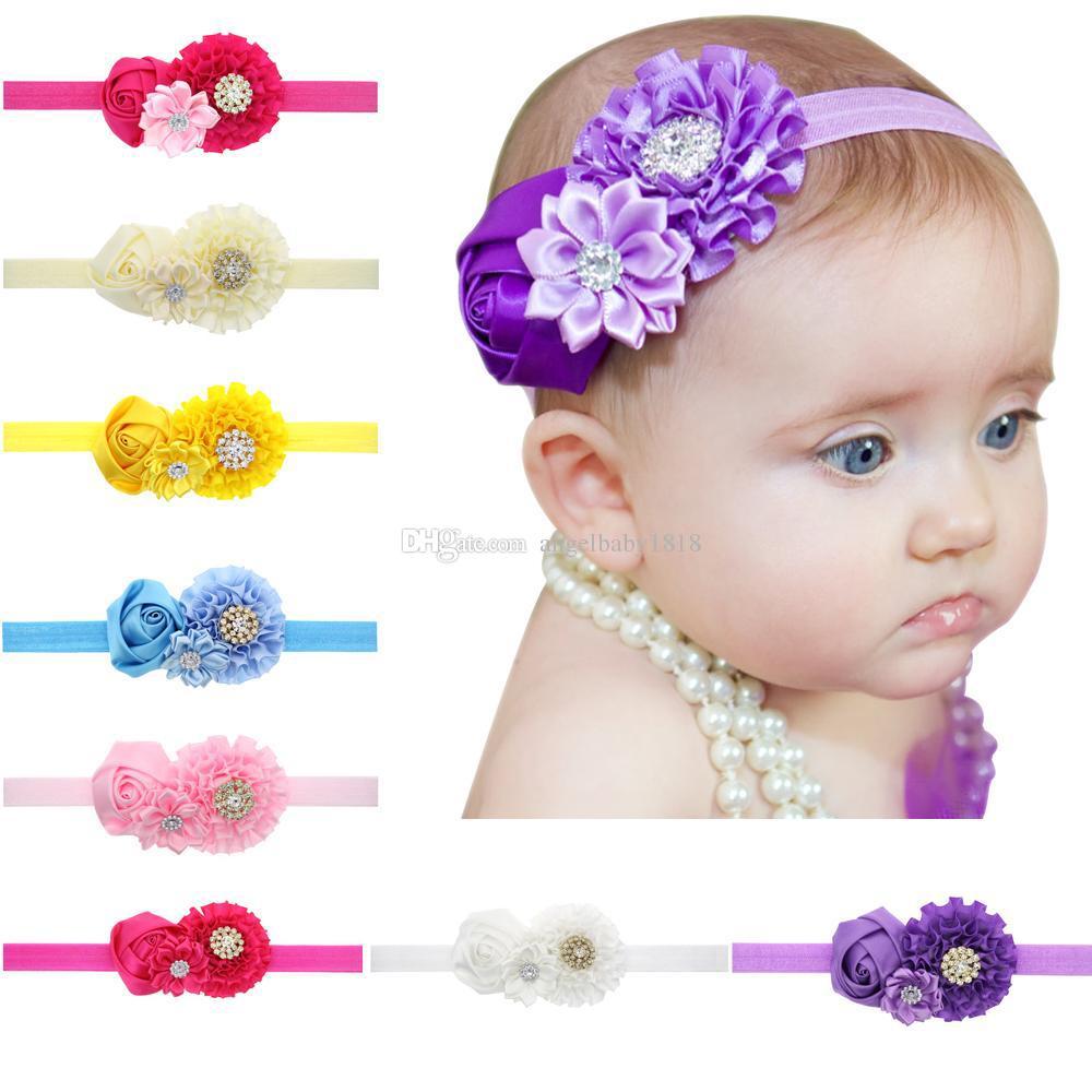 Fasce per bambine arco Copricapo Ragazze Carino mix Fiori Fasce per bambini Fasce per capelli per bambini Accessori per capelli per bambini Fasce per bambini