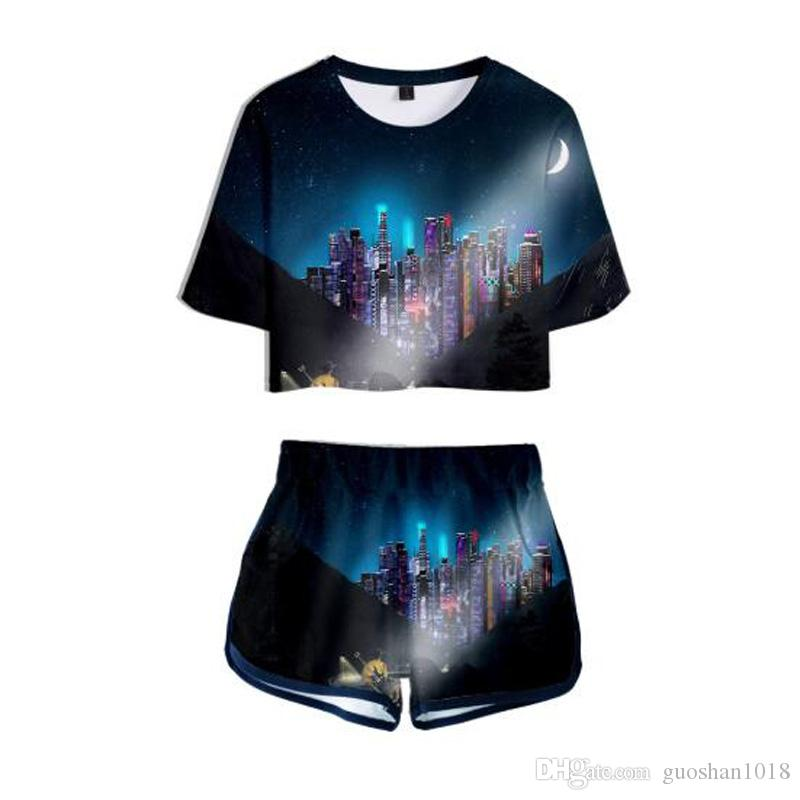 NEW Rapper Lil Nas X Montero Lamar Hill song Old Town Road 3D Two Pieces sets HIP HOP Clothing Harajuku Women's sports suit