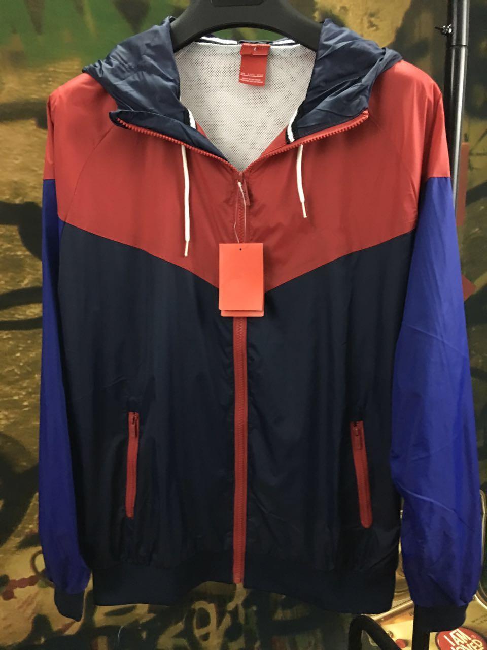 Новая коллекция весна осень мода Windrunner тонкая куртка пальто с длинным рукавом пэчворк активные черные мужские куртки M-3XL