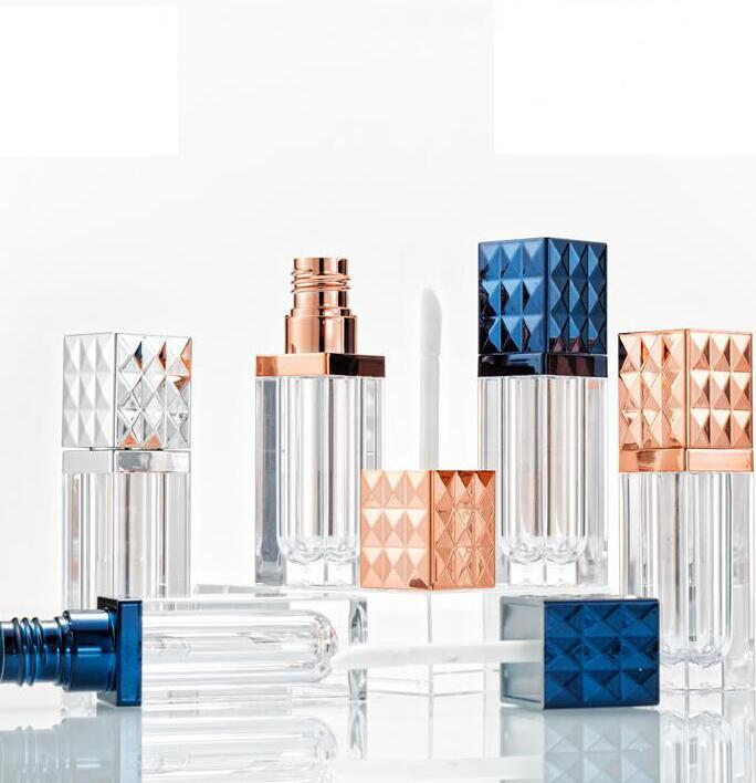 Clear Блеск для губ бутылки 6ml Пустые пластиковые трубы Помада Cosmetic Контейнер Refillable Упаковка Контейнеры Духи Бутылки Инструменты GGA2237
