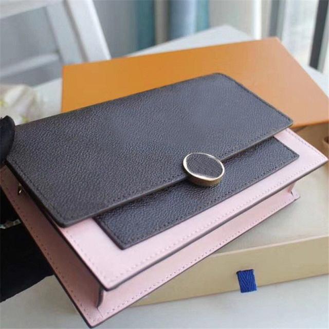 2020 Hot vendre Design Wallet Femmes porte-monnaie sac à main véritable Portefeuille long en cuir Moraillon sac à main sac à bandoulière boîte FL0RE expédition Sacs à main