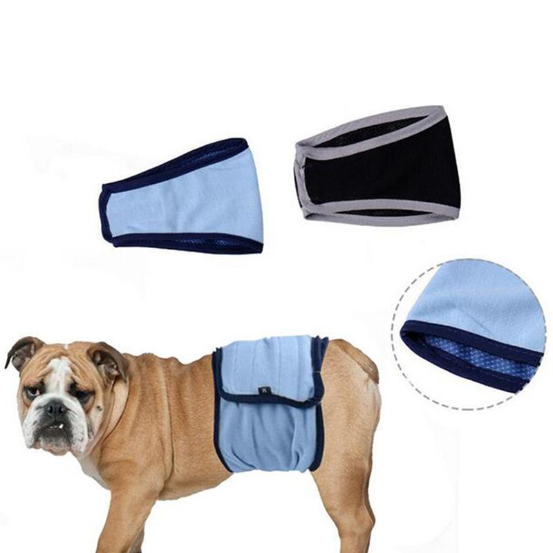 Perro mascota macho vientre sólida banda Wrap Entrenamiento del retrete del panal del pañal sanitario