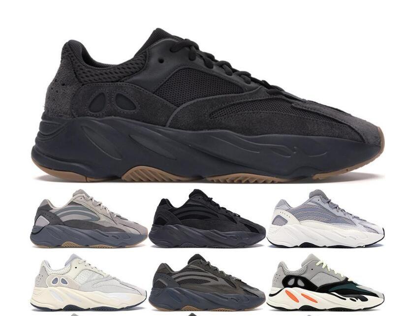 Wave Runner Geode Инерция Solid Gray VANTA Geode Статические Сиреневые Мужчины Женщины Kanye West Повседневная обувь дизайнер кроссовки 36-46