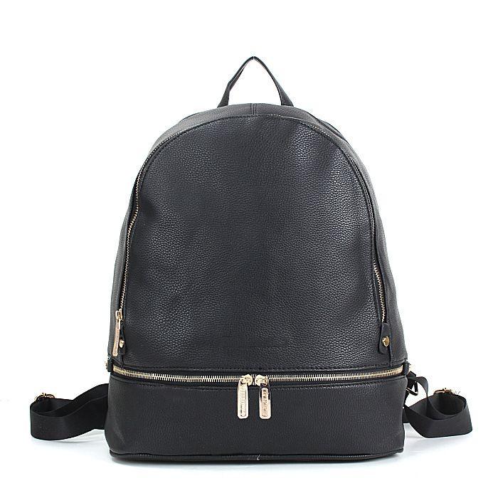 black brand design smaller backpacks school bags for women lady girls designer pu