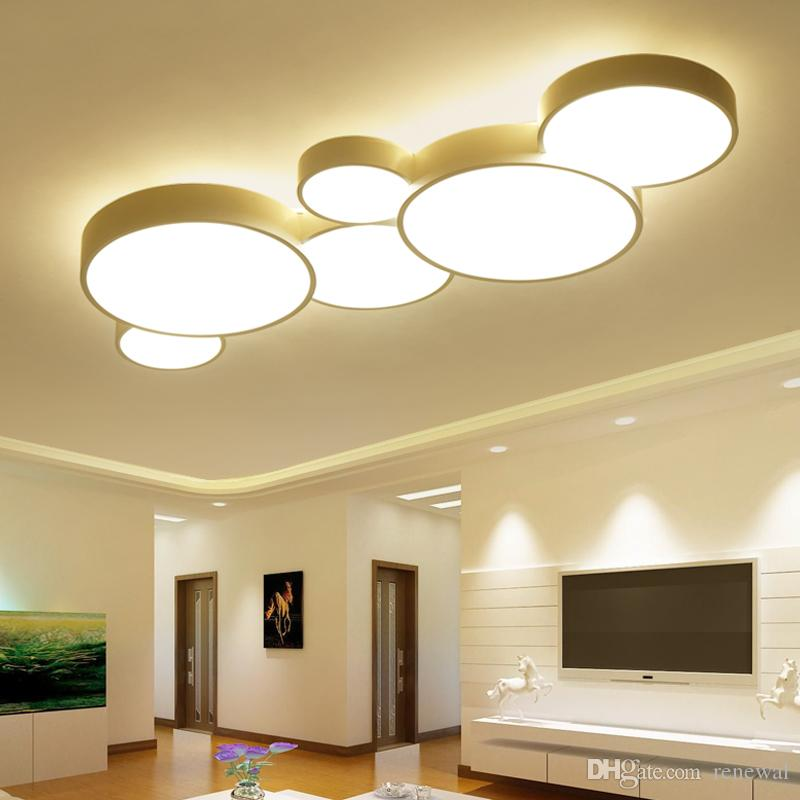 LED Ceiling Light Modern Panel Lamp Lighting chandel Fixture Bedroom Kitchen Surface Mount Flush Remote Control