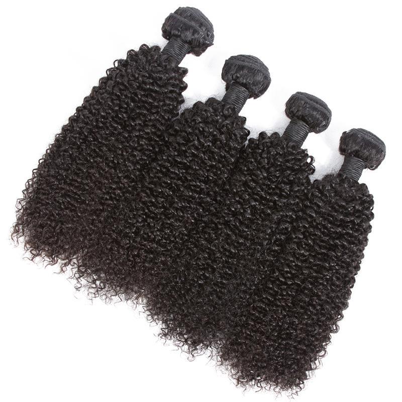 Brasileiro Kinky Curly cabelo humano Pacotes Non Remy Cabelo Humano Weave Kinky Curly Pacotes Natural Color Hair Extensions 8-28 polegadas