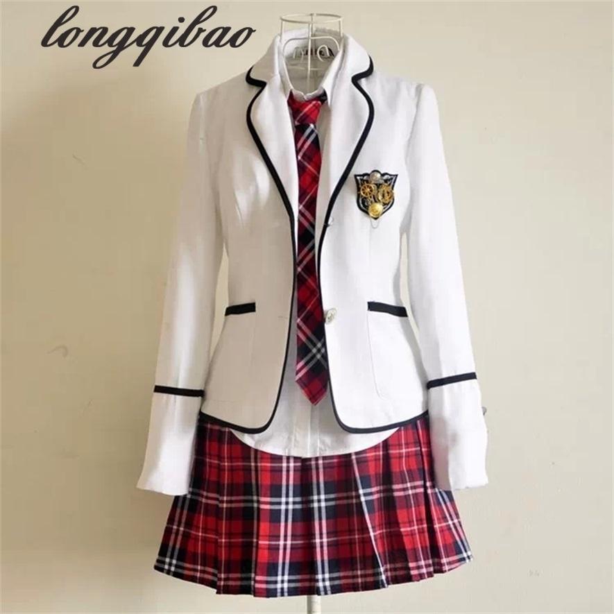 Estudiantes uniformes escolares de manga larga Japón y Corea del Sur uniformes JK estudiantes de escuelas secundarias, niños y niñas se adaptan C18122701