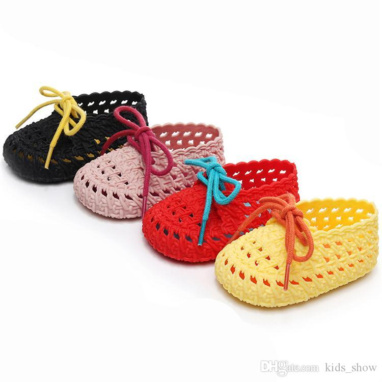 Mini Sed Shoes Baby Jelly Shoes Girls Boys First Walkers Soft Sole Newborn Fashion Sandals Infant Woven Shoes