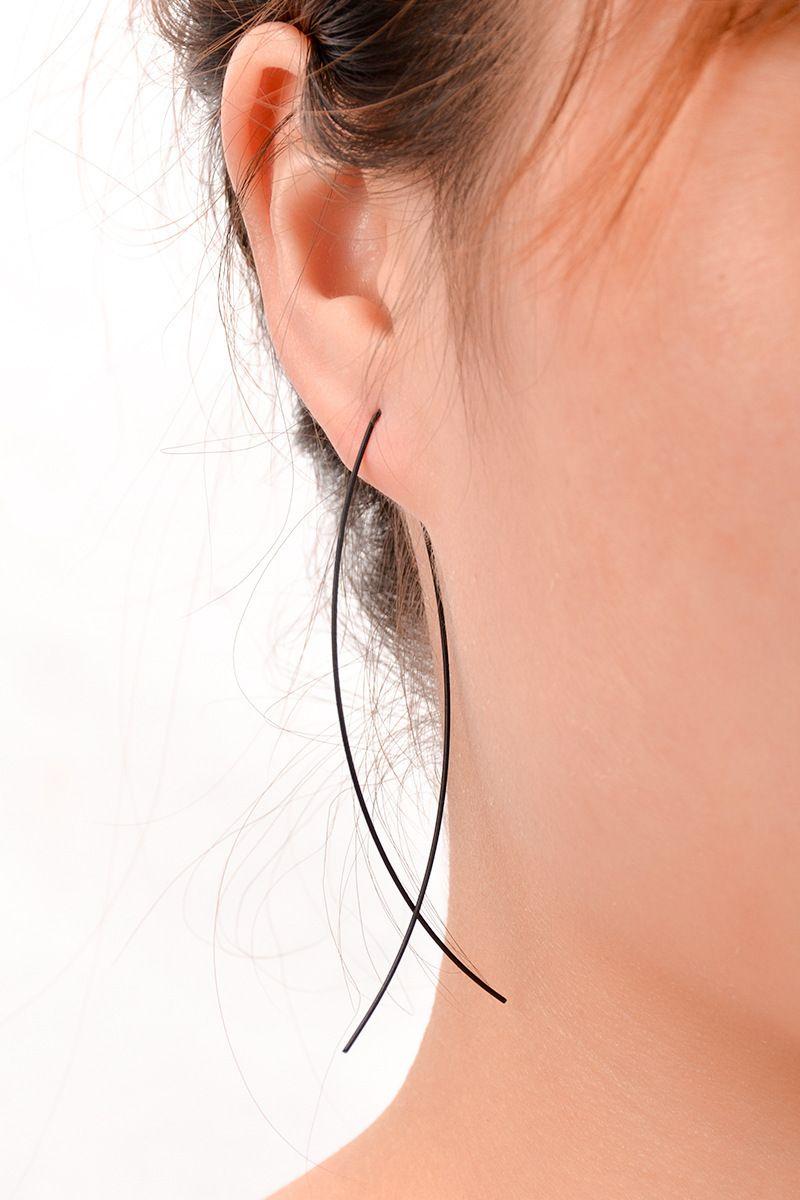 Fish Shaped Stud Earrings Simplicity Handmade Copper Wire Earring for Women
