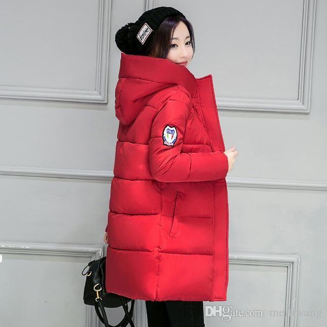 hot sale women winter hooded jacket female outwear cotton plus size 3XL warm coat thicken jaqueta feminina ladies camperas