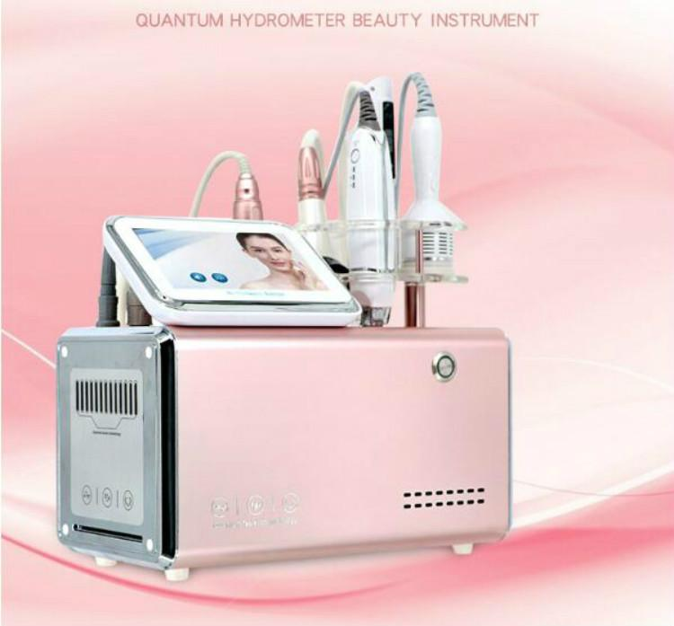 Newest 5 in 1 Needle Free Mesotherapy Bionic Clip RF Beauty Machine Meso Skin Care Gun Injector Cold Hammer Microcurrent Face Lift Device