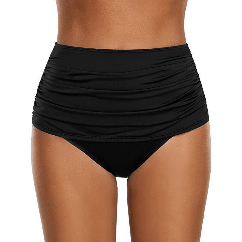 Trenne Female Badeanzug Bottom Bikini 2020 Mujer Unterwäsche mit hohen Taille Schwimmen Höschen Fest gedruckte Frauen-Schwimmen-Hosen # L5