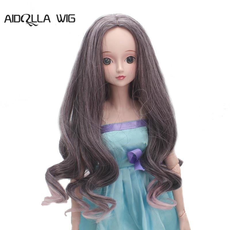 Centre Parting Long Curly Wig Hair for BJD SD Boy Girl Dolls DIY